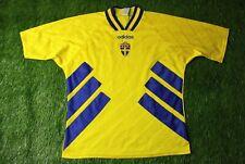 SWEDEN NATIONAL TEAM 1994-1996 FOOTBALL SHIRT JERSEY HOME ADIDAS ORIGINAL SIZE L
