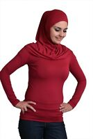 Ladies T Shirt Islamic Women's Long Sleeve Top Blouse 100% Cotton 2