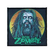 Rob Zombie Green Face Woven Sew On Battle Jacket Patch - Licensed 094