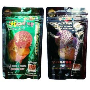 Okiko Cichlid Flowerhorn Fish Food Head Hunch Platinum 2 XL Floating Pellet 100g