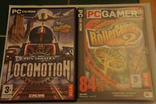 Roller coaster Tycoon 2 and Chris Sawyer's Locomotion Atari VGC PC Bundle