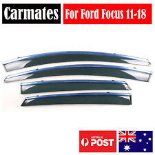 NEW Weather Shield Visor For Ford Focus 2011-2018 4 Doors double sided tape AU