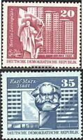 DDR 1820-1821 (kompl.Ausg.) postfrisch 1973 Aufbau in der DDR, Großformat