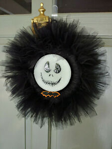 Midnight before Christmas, Jack Skellington, 12 inch wreath, black and white