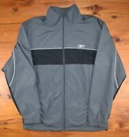 VTG Reebok Windbreaker Zip-Up Track Jacket Men's Small S Grey Black