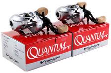 (LOT OF 2) QUANTUM VAPOR VP101SPT 6.3:1 GEAR RATIO LEFT HAND BAITCAST REEL