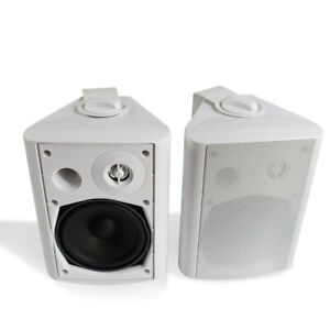 5 ''Indoor Outdoor  Patio Porch Speakers All Weather Wall Mount System