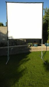 "Draper Cinefold 7X7 119"" Outdoor Projector Screen Portable W/ Case Open Air"