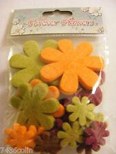Craftime 20 Artificial Felt Forever Flowers, BNIP, CR12687