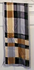 TERRIART Neutral Shades of Plaid SILK 10x52 Lg Scarf-Vintage Adrienne Vittadini