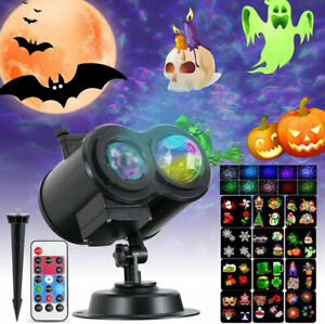 LED Halloween Projector Lights Moving Laser Garden Landscape Xmas Party Lamp UK