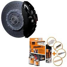 Foliatec Bremssattellack Farbe 2164 Schwarz glänzend 4 Bremssattel Reiniger Set