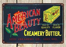 American Beauty Butter Sign metal tin sign decoration ideas