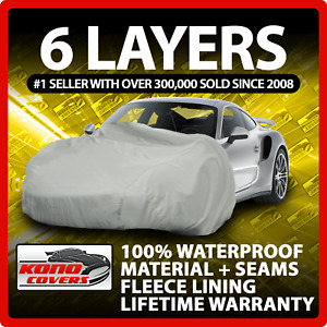 6 Layer Car Cover Indoor Outdoor Waterproof Breathable Layers Fleece Lining 6355