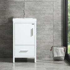 17.7'' Modern Design Bathroom Vanity Cabinet Undermount Resin Sink w/Faucet