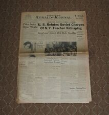 August 18, 1948 Syracuse Herald-Journal Complete Newspaper-Babe Ruth Dies