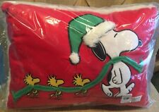Pottery Barn Kids Holiday Snoopy & Woodstock Decorative Pillow Christmas Peanuts