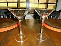VINTAGE MARGARITA CRYSTAL GLASSES WITH RAISED GOLD BEADS - SET OF 2