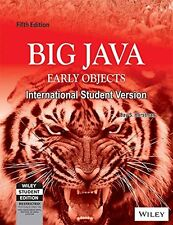 Big Java Early Objects 5Th Edition by Horstman,C.S.