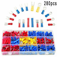 280Pcs Assorted Crimp Terminals Kit Insulated Electrical Wiring Connector Set FO