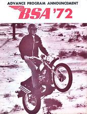 Orig 1972 Bsa Motorcycle Brochure A75 Rocket-3 Lightning 650 Thunderbolt B50Mx