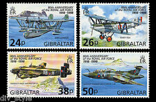 Royal Air Force 80th Anniversary set of 4 stamps mnh Gibraltar 1998