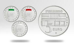 5 euro Italie 2021 argent BU - Nutella, Excellence à l'italienne (les 3 pièces)