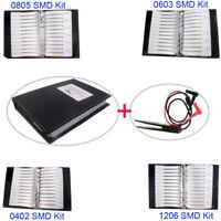 0805 0603 0402 1206 SMD Capacitor Resistor Assortment Kit Sample Book + Clip