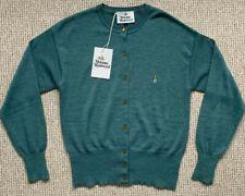 BNWT Vivienne Westwood Ladies Green Claccis Wool Cardigan - Size XL