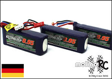 3x Turnigy nano-tech 950mah 3S 25~50C Lipo Akku NEU 11,1V Blade 200 SR X 200 S