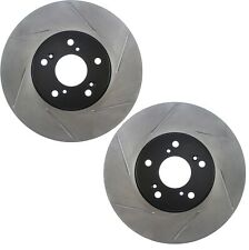 Pair Set 2 Front StopTech Slot Disc Brake Rotors for Acura CL Honda Accord Pilot
