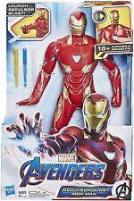 "Marvel Avengers Endgame Iron Man Repulsor Blast 15+ phrase sound 13"" figure NEW!"