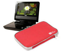 Durable & Lightweight Red Portable DVD Player Carry-Case For Xoro HSD 7790