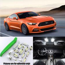Xenon White 9pcs Interior LED Light Kit for 2015-2016 Ford Mustang + Free Tool
