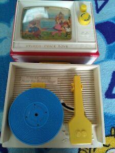 VINTAGE FISHER PRICE MUSIC BOX RECORD PLAYER - 1980'S RETRO