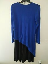 BLUE And Black LADIES CASUAL PARTY STRETCHY DRESS SIZE M BABY O CLOTHING CO