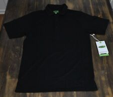 CARILOHA Men's Bamboo Fit Performance Polo Shirt Size Small Black NEW w/Tags
