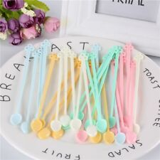 Stirrer Long Drinking Tools Handled Coffee Spoon Bar Candy Color Plastic