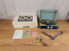Norwood Reel To Reel Portable Blue Tape Recorder Model T401 Tested Read Descrip.