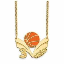 GP Epoxied Basketball Necklace with Name and Number