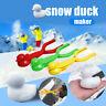 3Pcs Schnee Enten Clip Set Outdoor Winter süße Enten Schneemann Sand Mold Tool