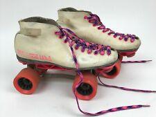 Vintage Riedell Z-95 Sunlite Ii Usa Indoor Roller Speed Derby Skates White/Pink