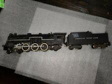 American Flyer S Gauge 293 4-6-2 Steam Locomotive & Tender. Lot # 600