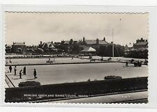 BOWLING GREEN AND TENNIS COURTS, TROON: Ayrshire postcard (C1964).