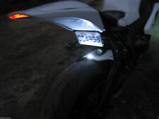 Super White LED License Plate Rear Tag Light Motorcycle Flat String Light CBR