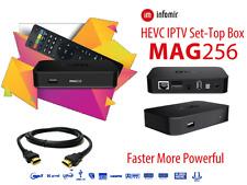 Mag 256 Box con 12 meses de servicio IPTV Calidad de alta definición (precio de ganga Crash Ventas)
