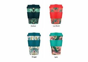 Ecoffee Cup Reusable Eco Friendly Coffee Travel Mug Emma Shipley sleeve & lid