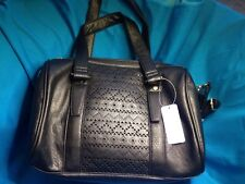 New Claire's Black Faux Leather Clutch Handbag Purse With Shoulder Strap