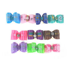 10Pcs Cute Dog Accessories Pet Hair Bows Different Styles And Colors FF