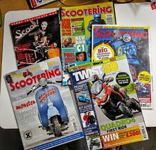 Lot of 8 Vintage assorted Scooter Magazines UK Italy Lambretta Vespa